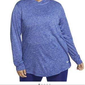 Nike dri-fit hooded shirt